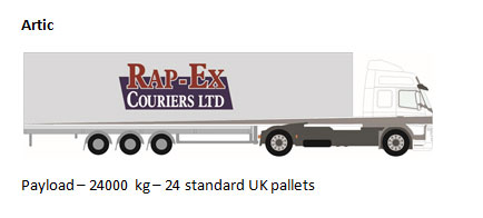 courier artic lorry sizes
